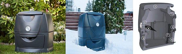 Kompostbeholder med bund